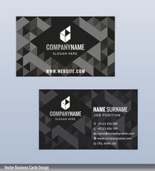Modern creative black and white business card template
