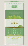 lovable nature one page website design template poster