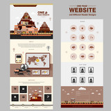 lovable one page website design template poster