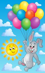 Rabbit with balloons theme image 3