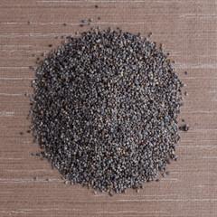 Circle of poppy seeds