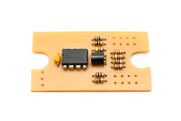 Homemade Circuit Board with Components