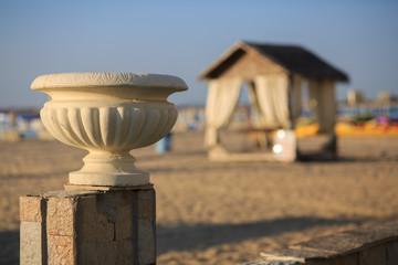 Old plaster vase