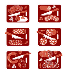 Sausage icon set