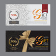 Voucher template with premium vintage pattern. vector - 79566437