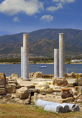 Ancient Sardinian ruins of Nora near Pula, near to Cagliari