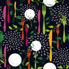 Food restaurant seamless pattern concept