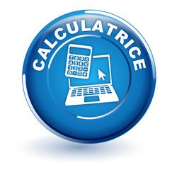 calculatrice ordinateur sur bouton bleu