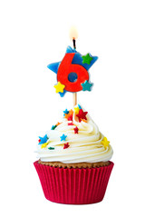 Number six cupcake