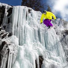 jump on icefall