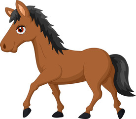 Cartoon brown horse