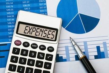 expenses on calculator