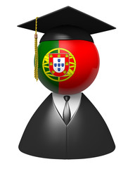 Portugal college graduate concept for schools and education