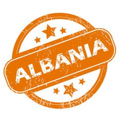 Albania grunge icon