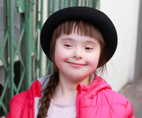 Portrait of beautiful young happy girl