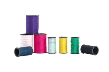 The colorful thread in isolated style