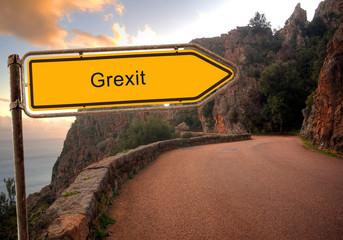 Strassenschild 36 - Grexit