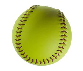 Softball isolated on white.