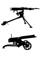 Retro machine gun