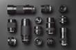 Leinwandbild Motiv Collection of camera lens