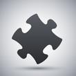 Vector puzzle icon - 79577014