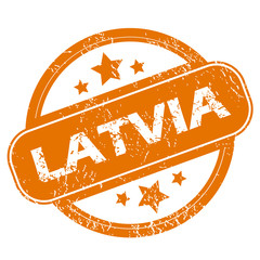 Latvia grunge icon