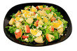 Green salad with eggs and apples