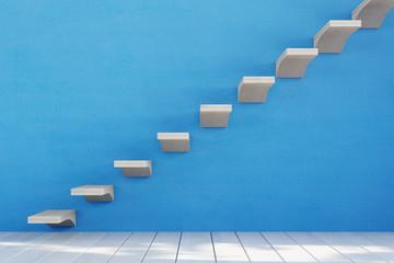 Treppe mit einzelnen Stufen