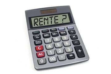 Taschenrechner mit Rente