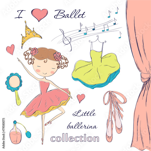 ballerina and accessories