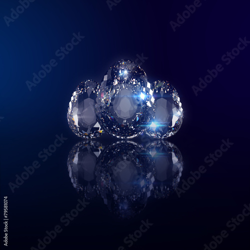 canvas print picture Diamant Ei förmig