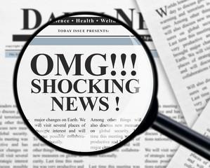 Shocking news headline