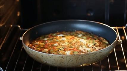 Omelette in oven