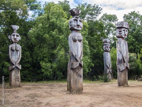 Zdjęcia na płótnie, fototapety, obrazy : Mapuche Denkmal Monumento Natural Cerro Nielol