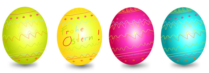 Frohe Ostern Eier Banner