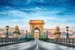 Chain bridge Budapest Hungary - 79583406