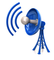 Blue technology satellite dish antenna