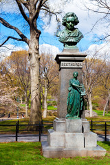 Beethoven statue, Central Park, New York City