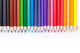 Fototapety Colour pencils isolated on white background