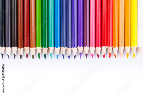 Colour pencils isolated on white background - 79584214