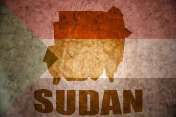 sudan vintage map