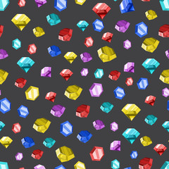 Colored diamonds texture. Vector illustration.