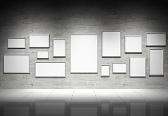 Empty frames in show room