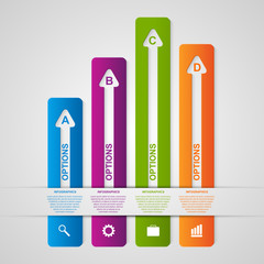 Abstract options infographic. Design element.