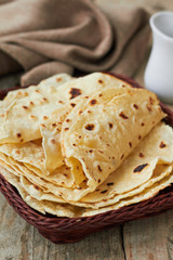 Fresh homemade wheat tortillas
