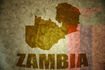 zambia vintage map