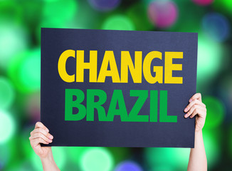 Change Brazil card with colorful background