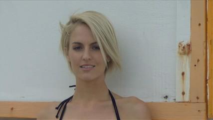 Portrait of female wearing a bikini
