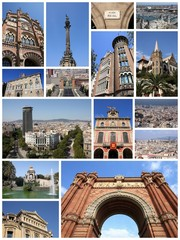 Barcelona photos - travel collage
