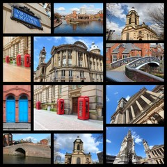 Birmingham, England - travel collage